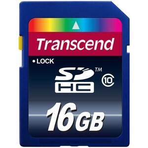 Transcend 16gb Class 10 SDHC Flash Memory Card