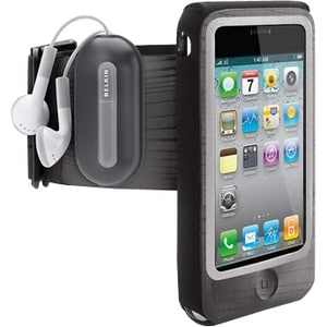 Belkin FastFit F8Z611tt Carrying Case (Armband) for iPhone - Gray, Bl