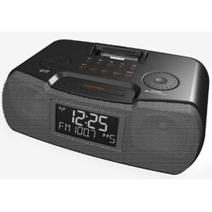 Sangean RCR-10 Desktop Clock Radio - 8 W RMS - Stereo - Apple Dock In
