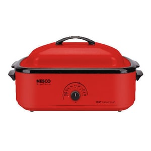 Metal Ware Nesco 18-quart Electric Roaster Oven, Red (Metal)
