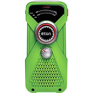 Green FRX1 Hand Turbine AM/FM/NOAAWeather Radio/ LED Flashlight