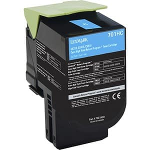 Lexmark 701HC Toner Cartridge - Cyan