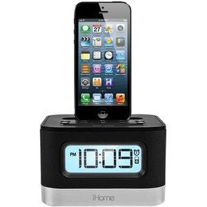 iHome iPL10BC Desktop Clock Radio - Stereo - Apple Dock Interface - P