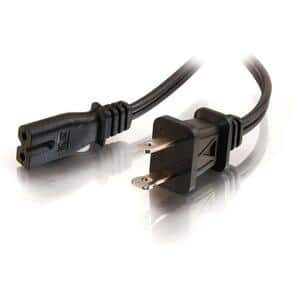 Cables To Go 6ft Polarized 2-Slot Power Cord