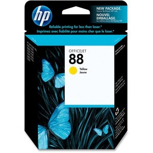 HP No. 88 Yellow Ink Cartridge with Vivera Ink For Officejet Pro K550 Series Printers - Thumbnail 0