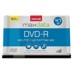 Maxell 16x 4.7GB DVD-R Media - 50-pack