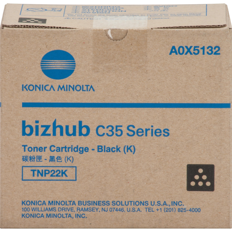Konica Minolta TNP22K Original Toner Cartridge, Black #A0...
