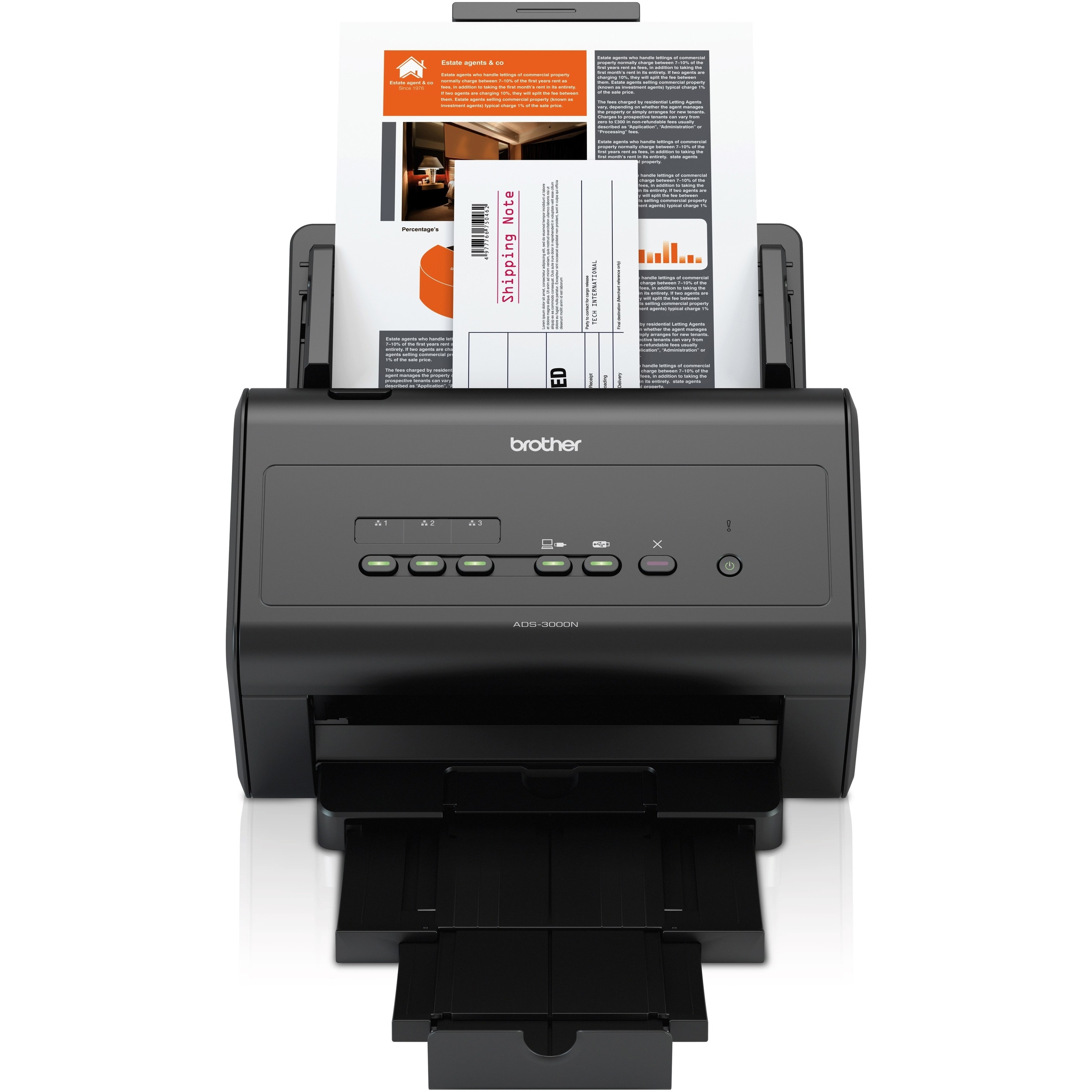 Brother ImageCenter™ ADS-3000N High-Speed Document Scanner - Du