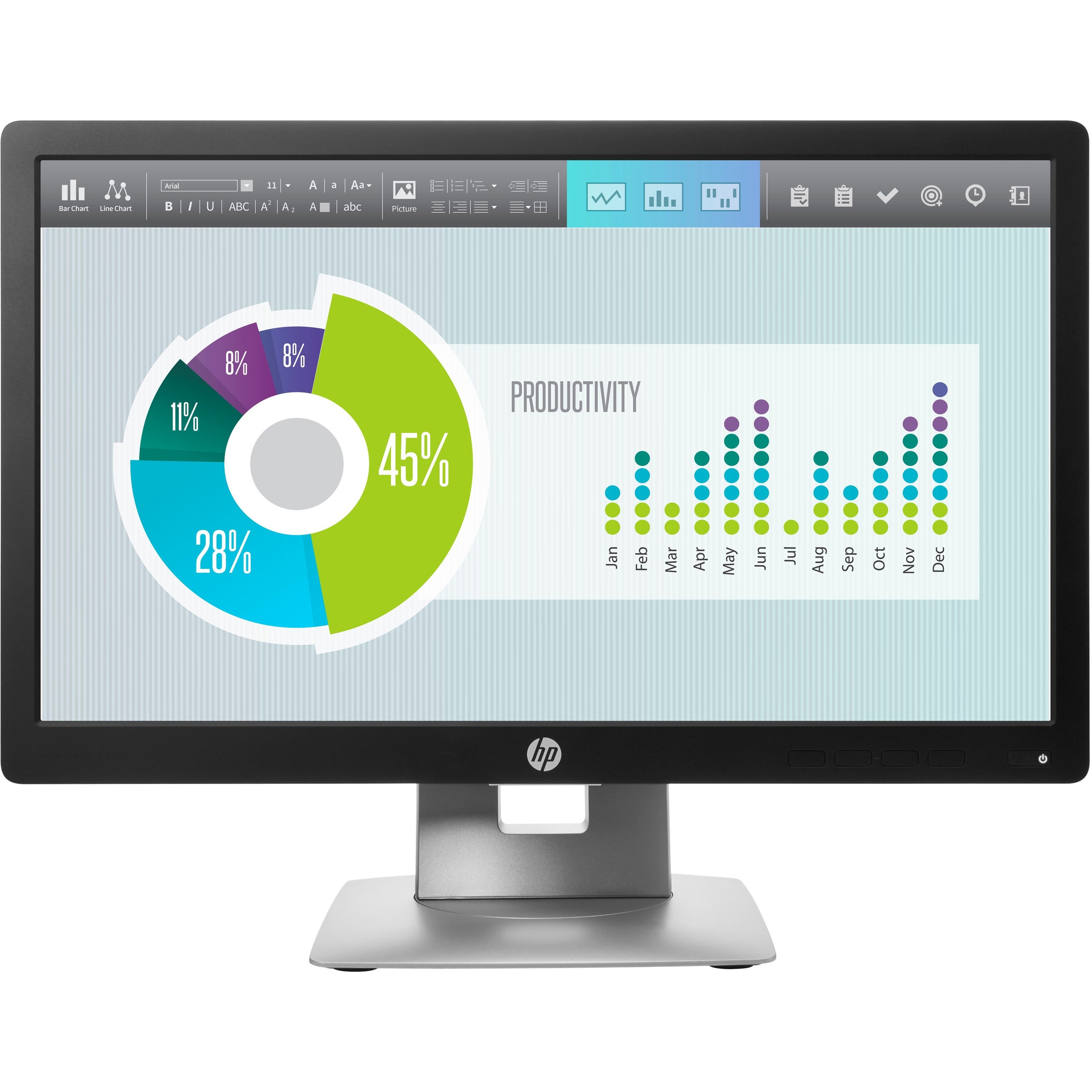 """HP Business E202 20"""" LED LCD Monitor - 16:9 - 7 ms"""