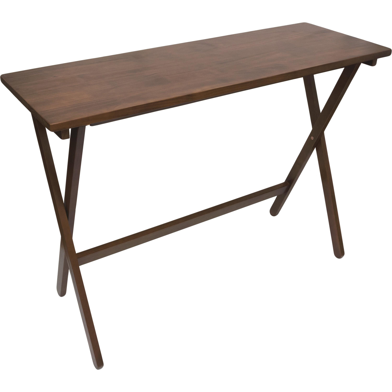 Lipper NEW Folding Buffet Table Walnut Finish Free Shipping