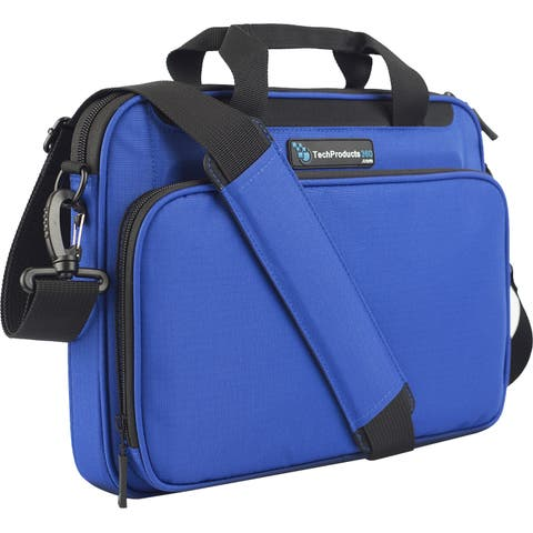 """TechProducts360 Vault Carrying Case for 12"""" Notebook - Blue"""
