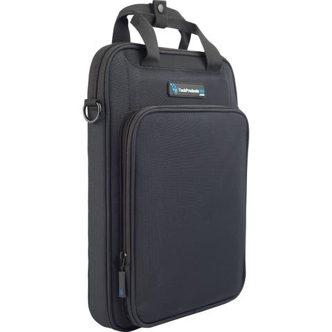 "TechProducts360 Vertical Vault Carrying Case for 13"" Notebook - Black"