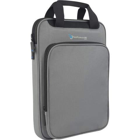 "TechProducts360 Vertical Vault Carrying Case for 13"" Notebook - Gray"