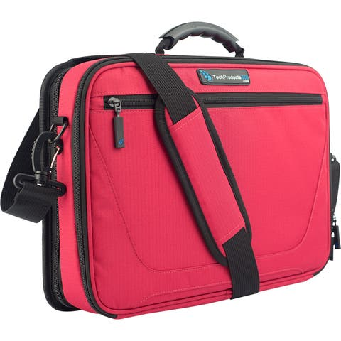 "TechProducts360 Work-In Vault Carrying Case for 11"" Netbook - Red"