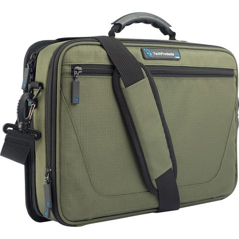 """TechProducts360 Work-In Vault Carrying Case for 11"""" Netbook - Green"""