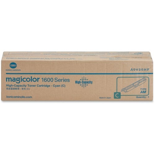 Konica Minolta High Capacity Cyan Toner Cartridge For Magicolor 1650E - Thumbnail 0
