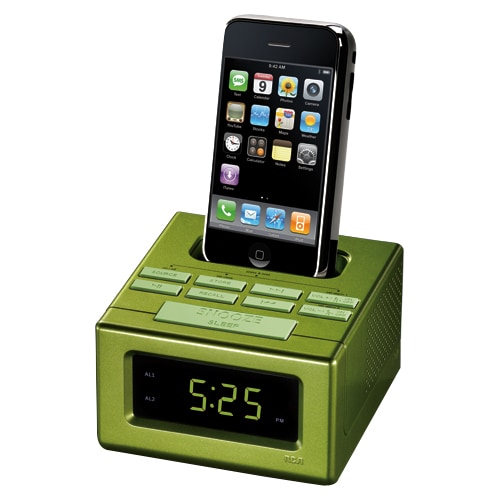 RCA RC130IGR Desktop Clock Radio - Apple Dock Interface