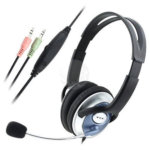 INSTEN Over-the-head Hands-free VoIP/ Skype Wired Stereo Headset