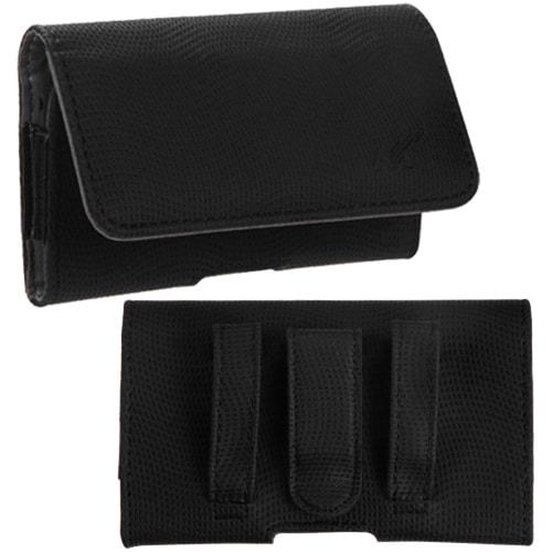 Insten Black/ Grey Wavy Design Universal Carry Pouch Phon...