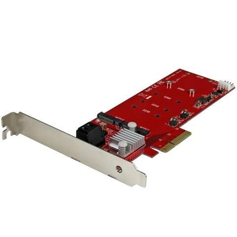 StarTech.com 2x M.2 NGFF SSD RAID Controller Card plus 2x SATA III Ports - PCIe - Two Slot PCI Express M.2 RAID Card plus Two S