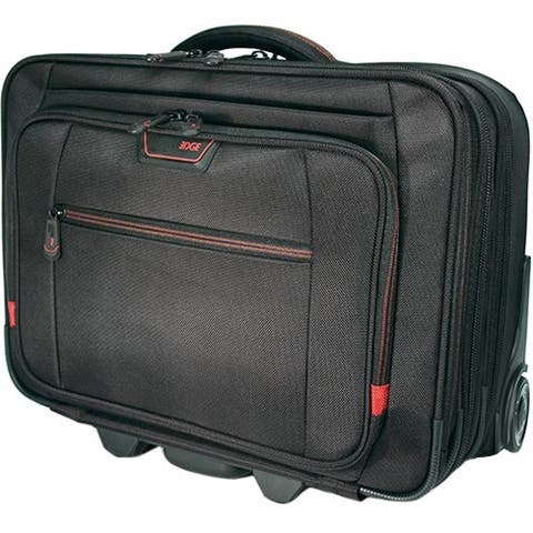 """Mobile Edge Carrying Case (Roller) for 17.3"""" Notebook - Black"""
