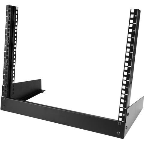 StarTech.com 8U Desktop Rack - 2-Post Open Frame Rack - 19in Open Frame Desktop Rail Rack - 8U