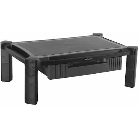 "StarTech.com Adjustable Monitor Riser - Large - Drawer - Monitors up to 32""- Adjustable Height - Desk Monitor Stand"