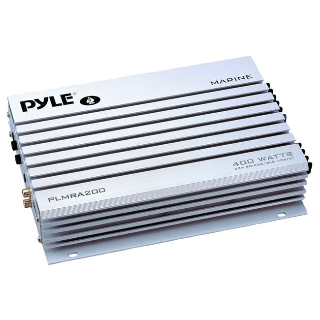 Pyle Hydra PLMRA200 Marine Amplifier - - @ 2 Ohm400 W PMPO - 2 Channe
