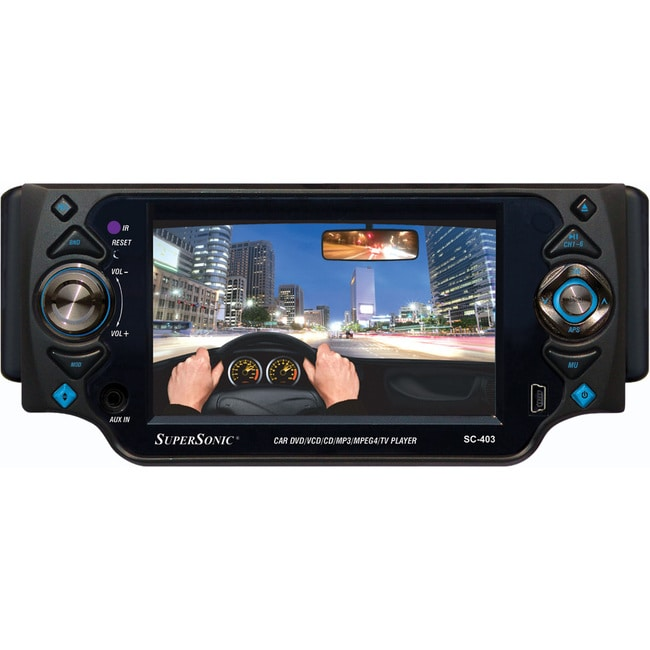 "Supersonic SC-403 Car DVD Player - 4.3"" Touchscreen LCD Display"