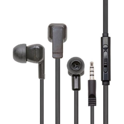 Califone Earbuds With Mic And To Go Plug