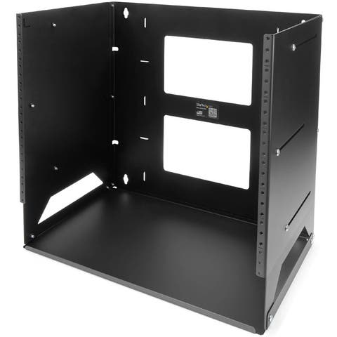 StarTech.com 8U Wallmount Server Rack with Built-in Shelf - Solid Steel - Adjustable Depth 12in to 18in