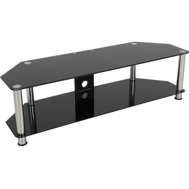 Avf Sdc1400cm A Classic Corner Glass Tv Stand With Cable Mangement