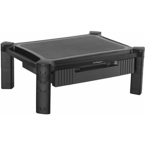 "StarTech.com Adjustable Monitor Riser - Drawer - Monitors up to 32""- Adjustable Height - Monitor Stand - Computer Monitor Riser"