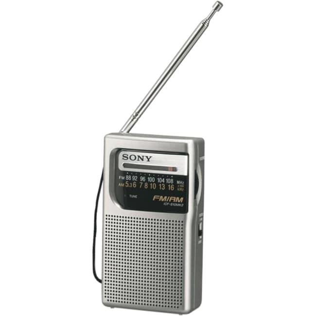 Sony Portable ICF-S10MK2 Pocket AM/FM Radio