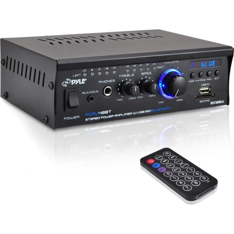 PyleHome Mini Blue PCAU48BT Amplifier - 2 Channel