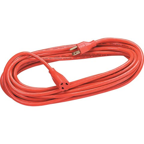Fellowes 50ft Hardwired Extension Cord - Orange