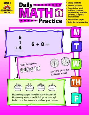 Daily Math Practice, Grade 1 (Paperback)