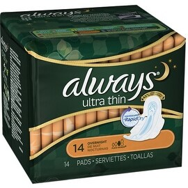 Always Ultra Thin Pads, Overnight 14 ea