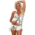 Women's 2-Piece Camo Bikini White True Timber Tankini Top & String Shorts Beach Swimwear Swimsuit - Thumbnail 0