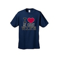 MEN'S T-SHIRT I Love My Crazy Wife VALENTINE'S DAY FUNNY COUPLES TOP S-3X 4X 5X - Thumbnail 8