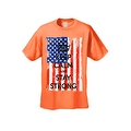 Men's T-Shirt USA Flag Keep Calm & Stay Strong Stars & Stripes America Patriotic - Thumbnail 2