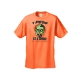 Men's T-Shirt If I Come Back As A Zombie I'm Eating You Frist Undead Graphic Tee - Thumbnail 2
