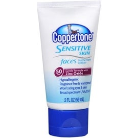 Coppertone Sensitive Skin Faces Sunscreen Lotion SPF 50 2 oz