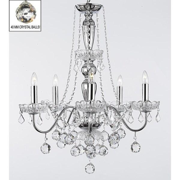Elegant Crystal Chandelier With 5 Lights Pendant Lighting Fixture Light Lamp