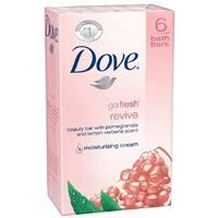 Dove Go Fresh Revive Beauty Bars, Pomegranate & Lemon Verbena, 4 oz bars, 6 ea