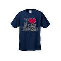 UNISEX T-SHIRT I Love My Crazy Husband FUNNY COUPLES VALENTINE'S DAY TOP S-4X 5X - Thumbnail 0