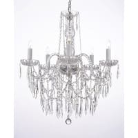 All Crystal Chandelier Lighting With Crystal Icicles