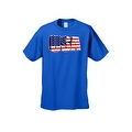 Men's USA Flag T Shirt 3D Patriotic Pride Stars & Stripes American Old Glory Tee - Thumbnail 3