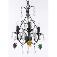 Wrought Iron Empress Crystal Chandelier Lighting Dressed