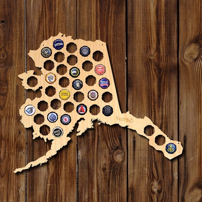 Alaska Beer Cap Map